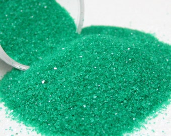 green kawaii fake sugar sprinkles half ounce / 14 grams granular decoden topping for miniature sweet treats