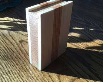 Wooden Playing Cards Case