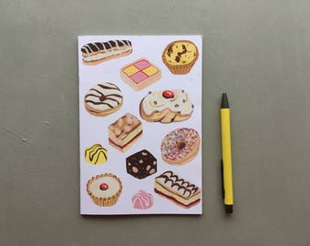 Cakes notepad - bullet journal