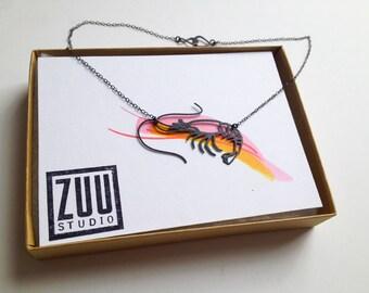 Shrimp Prawn Necklace