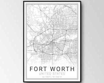 Fort Worth city map
