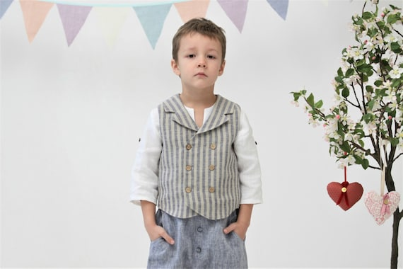 Boys clothes Ring bearer vest Wedding party outfit Toddler boy