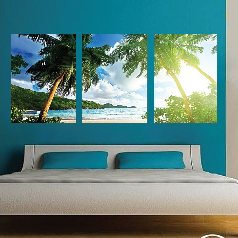 Palm Tree Wall Mural Decal Palm Tree Wall Art Decals Large - Wall decals and murals