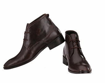 Mens Chukka Boots with Leather Sole | Jacksin Boots
