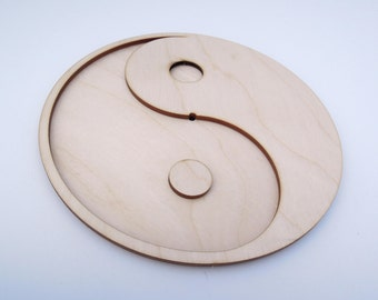 Wooden Clock Face Dial With Numbers for Crafts - Laser Cut