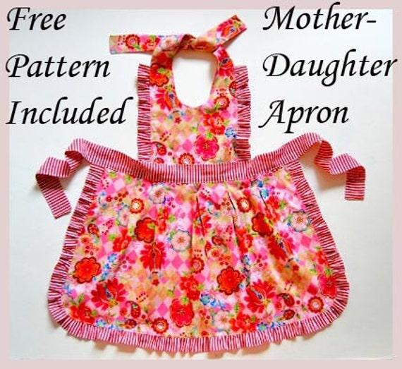 Olga Girls Dress Pattern + Free Mother-Daughter Apron Pattern, Hoodie Pattern, Children\'s Sewing Patterns, baby, toddler, pdf, tutorial