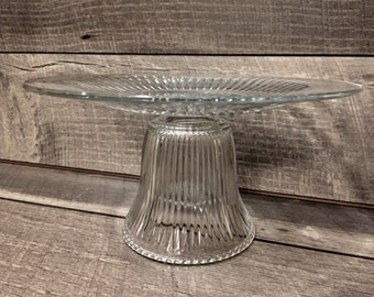 Glass Cake Stand | Cupcake Stand | Dessert Table | Sweets | Baby Shower | Wedding | Bridal Shower | Birthday Party | Christmas |Thanksgiving