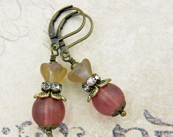 Bohemian earrings, vintage style