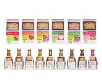 Made with Love Top 15 Best Sellers Gift Box 6 Gourmet Magic Meals + 9 Spice Blends Easy Real Whole Food Fast! Organic Artisan Foods Foodie