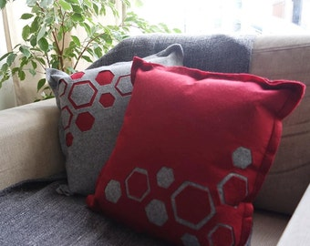Hexagonal,cut-out cushion cover
