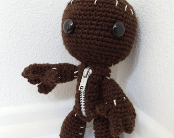 Little Big Planet Sackboy Amigurumi (crocheted stuffed doll)