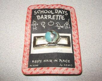 School Days Barrette by NEMO Vintage Costume Jewelry #5070