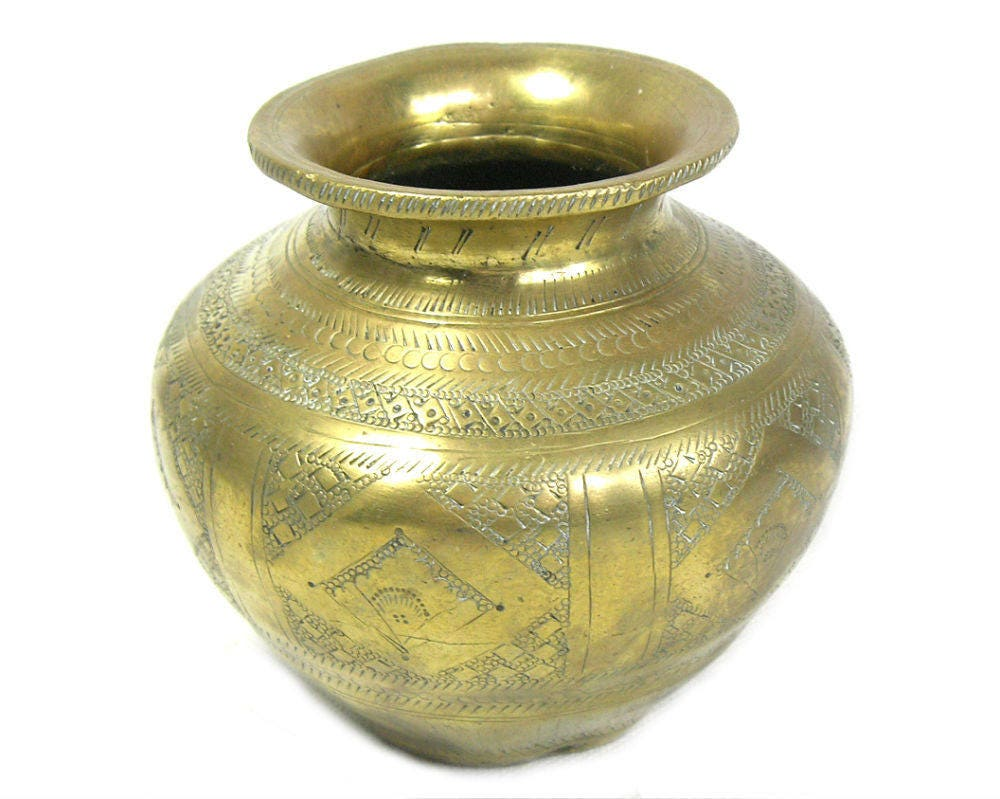 Antique indian brass lota vase antique lota indian lota zoom reviewsmspy