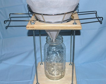 New tincture press companion adjustable filter rack stand for straining tinctures, oils, or butters Geo-Tor (FS-14)