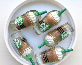 Starbucks Iced Coffee charms for slime (5pcs)