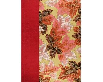 Journal Blank Paper Scarlet Leaves