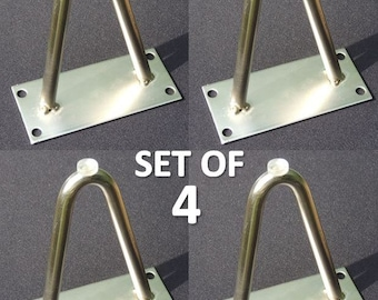 NEW Set of four (4) Hairpin Furniture Legs 4""