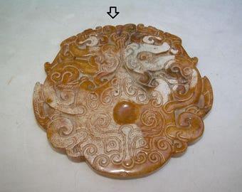 Serpentine Jade, Gorgeous Carving, 80 mm
