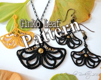 "Tatting Pattern ""Ginkgo Leaf"" PDF Instant Download"