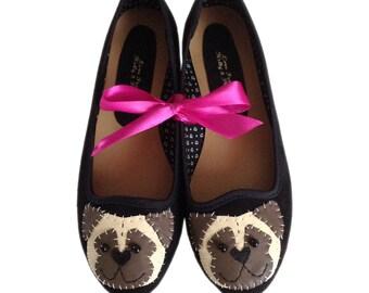 Pug Dog Ballet Pump Shoes