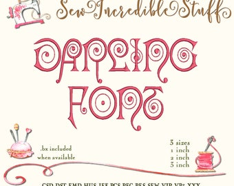 Darling Machine Embroidery Font