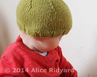 gumnut baby pixie hat pattern - pdf knit pattern - easy newborn and baby bonnet pattern