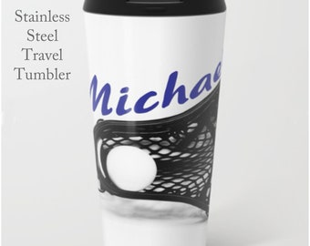 Boys Lacrosse-Travel Mug-Lacrosse Travel Cup-Travel Mug-Stainless Steel Tumbler-15 oz Tumbler-Lacrosse Mug-Insulated Travel Mug-Custom Mug