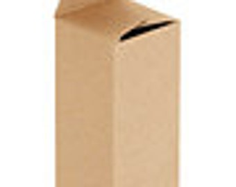 "Reverse Tuck Carton - Kraft, 2 x 2 x 5"" -50 count"