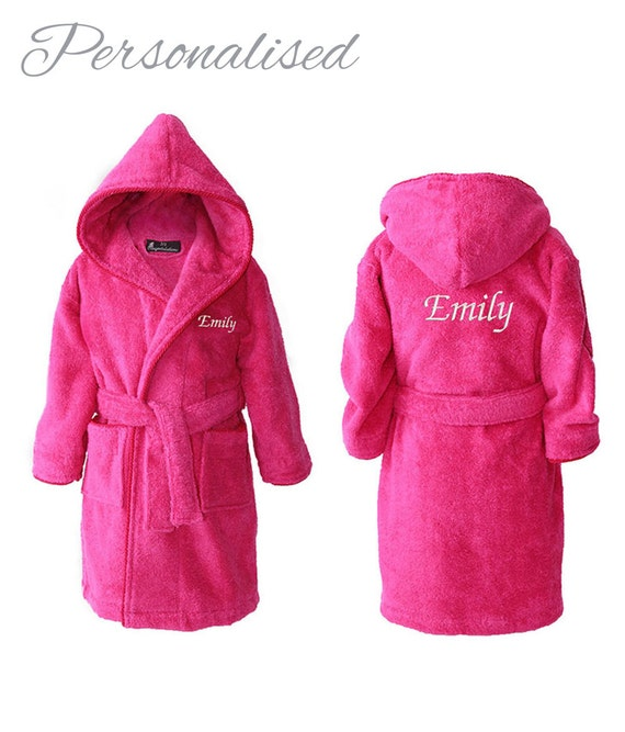 Personalised Girls Dressing Gowns Personalized Kids Robes