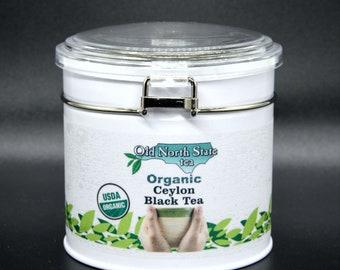 Organic Ceylon Black Tea - Large tin - 40 2gr bags