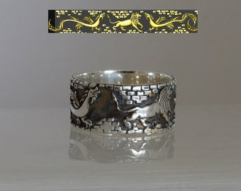 Custom ring design band for men or women by your draft, unique contemporary  ring made in Israel.