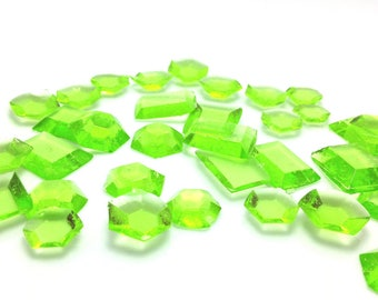 MINT GREEN EDIBLE Sugar Jewels- Cupcake Toppers, Wedding Cake Decorations, Candy or Dessert Table, Sugar Gems, Featured in Brides Magazine