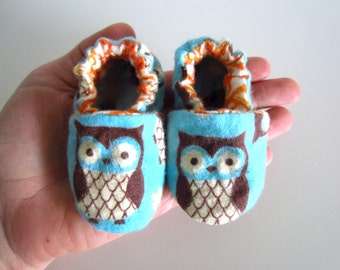 Owl Soft and Cute  Baby Shoes