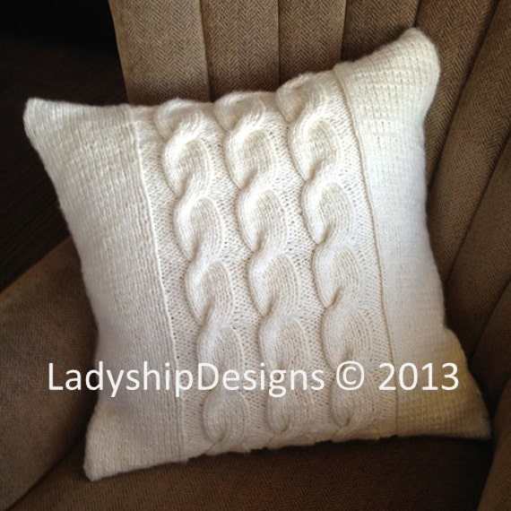 Pdf Knitting Pattern Cable Knit Pillow Cover Knit Pillow Cover