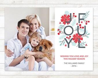 Christmas Photo Card, Printable Photo Christmas Card,  Holiday Photo Card, Christmas Card, Christmas Photo