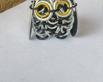 Snow Owl Chainmaille Sculpture