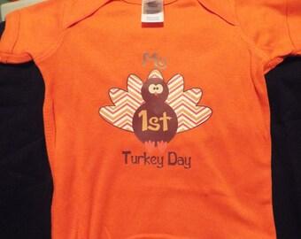 Thanksgiving baby onesie