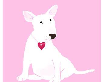 Bull Terrier Pup Card Puppy Love Card