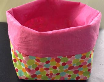 Pretty tidy colorful polka dot and pink