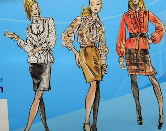 Simplicity 2807 Project Runway pattern, uncut, misses' blouse and skirt in sizes 14-22
