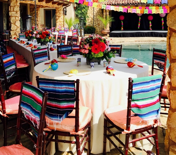 Mexican Themed Home Decor: Mexican Colorful Serapes Runner For Chair Cover Decor Party