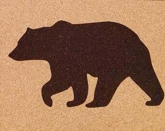 8 x 12 Laser Etched Muskoka Bear Cork Mat