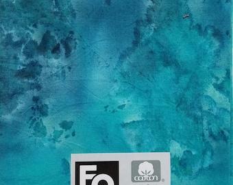 "Fabric Quarters Cotton Fabric 18""- Turquoise Tie Dye"