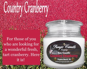 Country Cranberry Scented Soy Jar Candle (16 oz.)