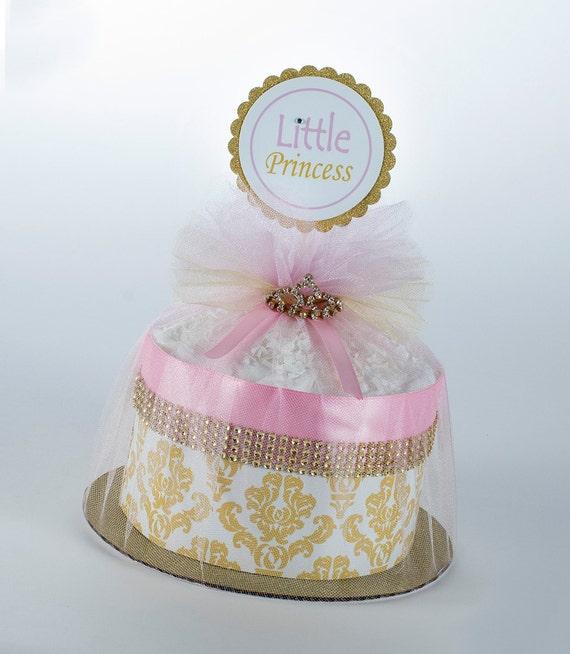 Diaper Cake - Diaper Cakes - Mini Diaper Cake - Baby Gift - Little Princess Diaper Cake - Princess Baby Shower - Princess Diaper Cake