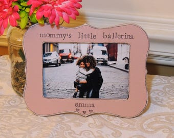 Mommy's little Ballerina frame mothers day gift mom mama mommy Personalized Custom photo picture frame daughter mother bride wedding gift