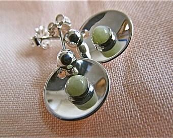 Sterling silver citron magnesite earrings