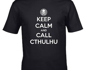 Men's T-shirt Keep Calm and Call Cthulhu