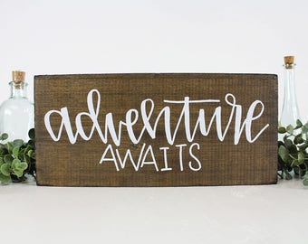 FREE SHIPPING Adventure Awaits Wedding Sign
