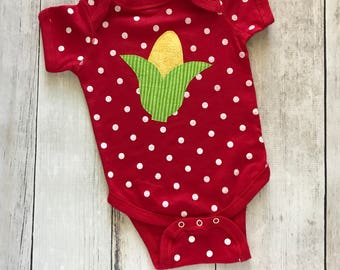 Farm Kid - Polka Dot and Corn - Infant Bodysuit
